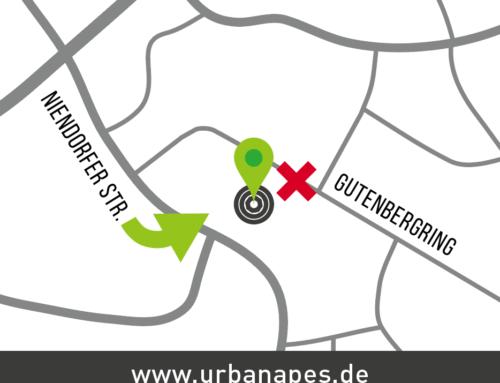 SPERRUNG Einfahrt Gutenbergring zum Boulderwerk