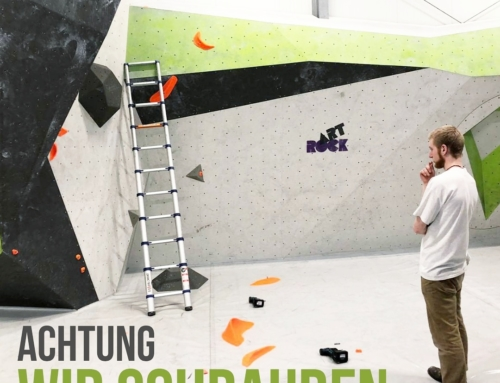 Kletterwerk – ACHTUNG – Wir schrauben um